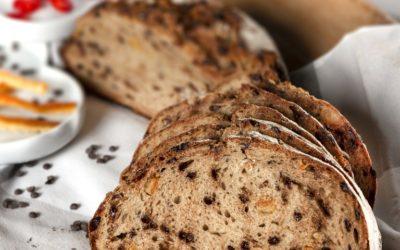 Pão de Centeio com Laranja confitada e Chocolate